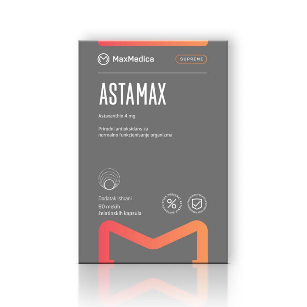 Maxmedica Astamax astaxanthin 4mg 60 kapsula
