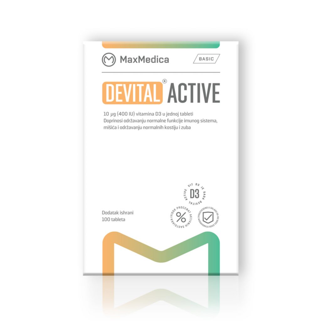 Maxmedica devital active 100 tableta
