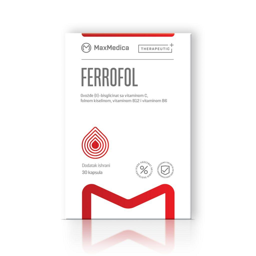 Maxmedica ferrofol 30 kapsula