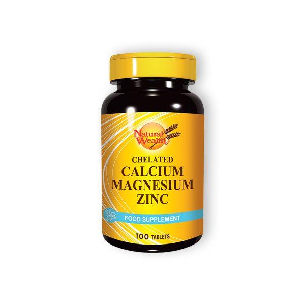 Natural wealth helatni kalcijum magnezijum cink 100 tableta