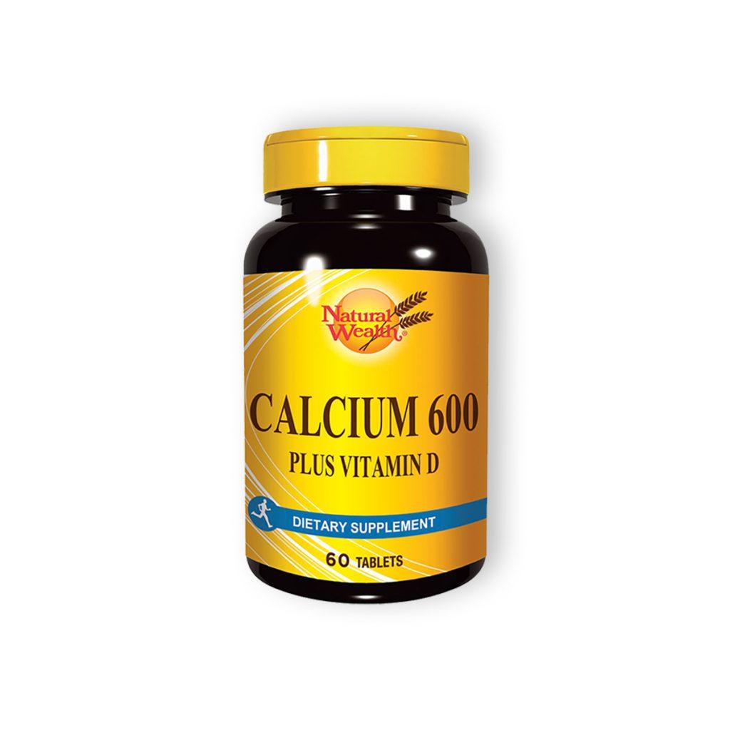 Natural wealth kalcijum 600 plus vitamin d