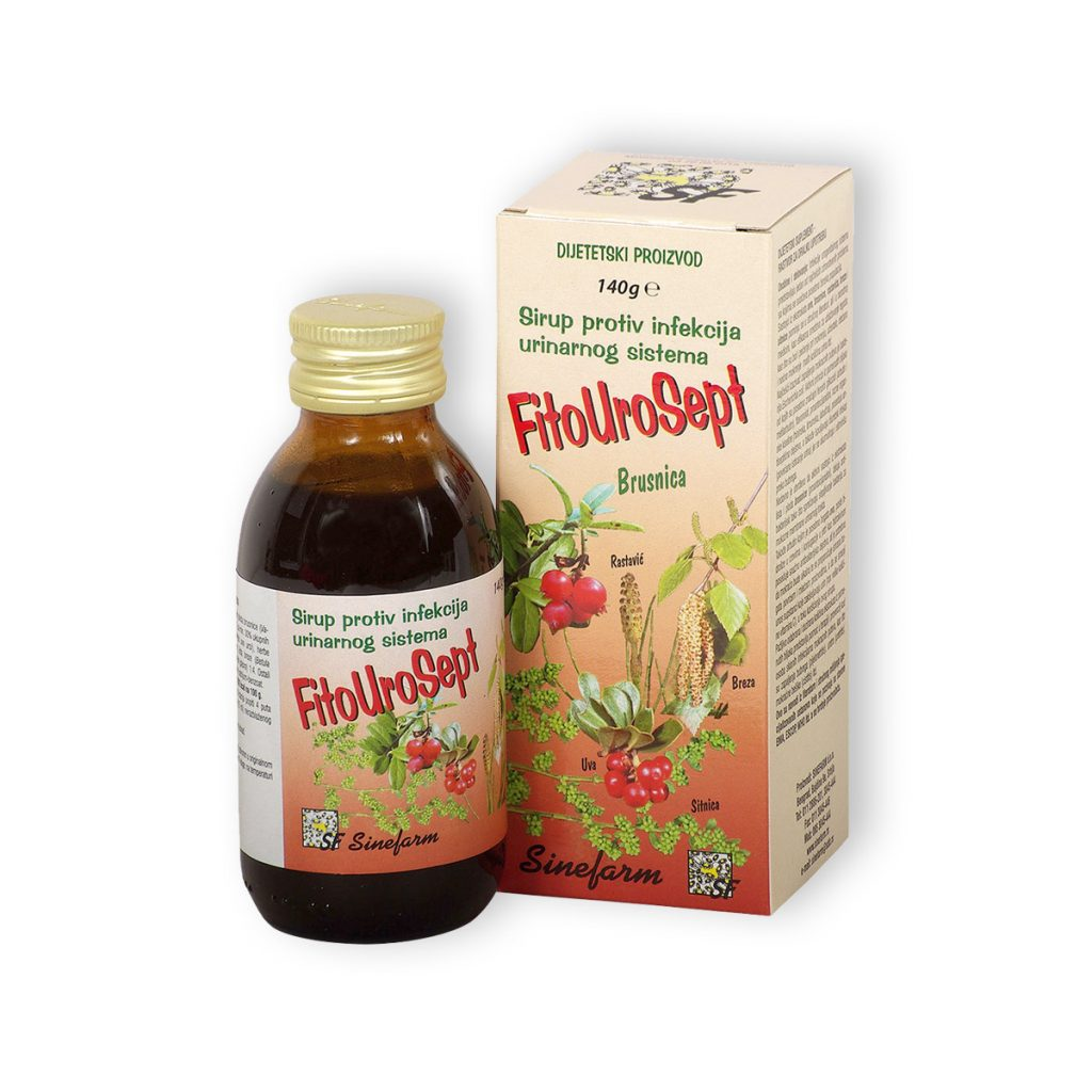 Sinefarm fitourosept sirup protiv infekcija urinarnog sistema 140 g