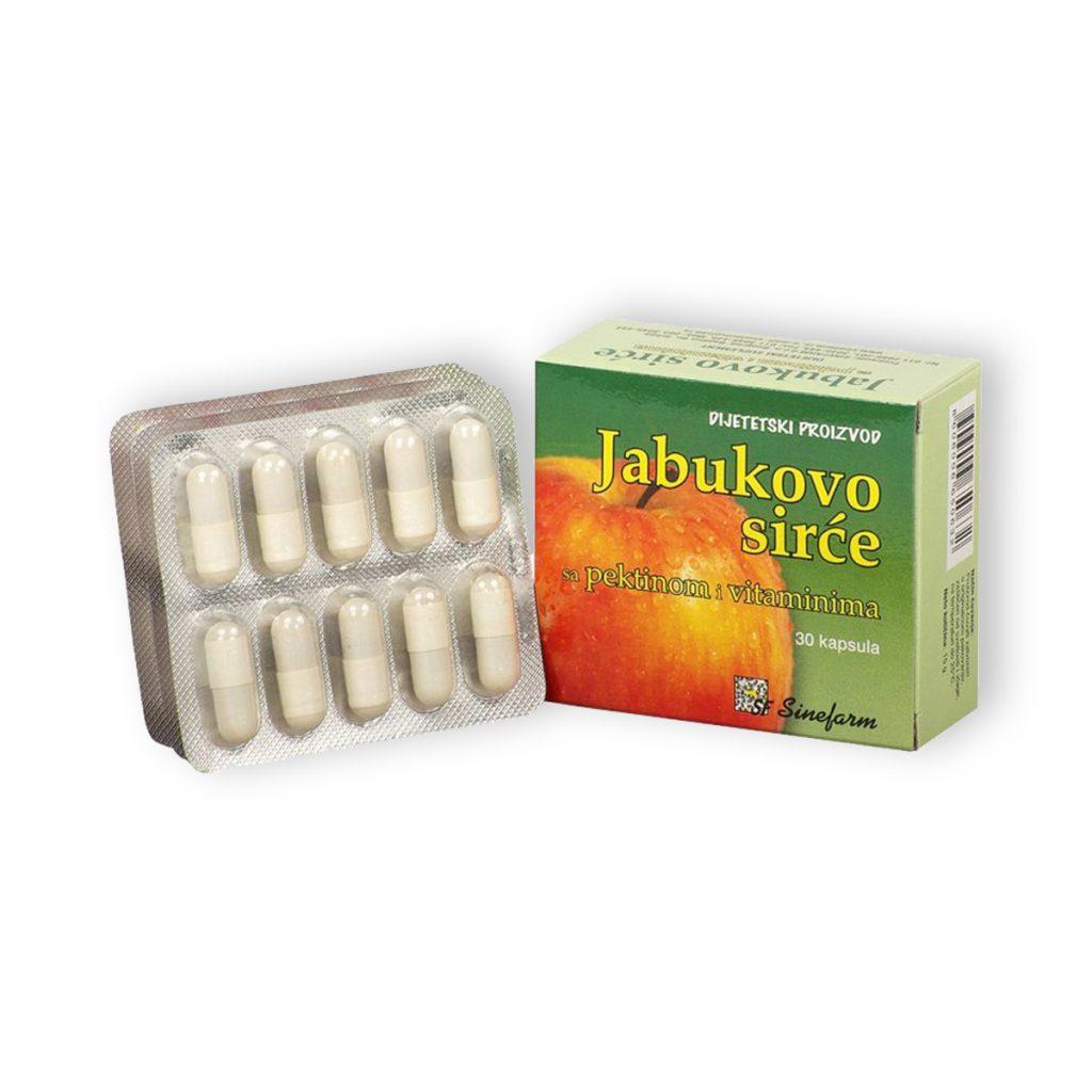 Sinefarm kapsule jabukovog sirceta sa pektinom vitaminima 30 kom
