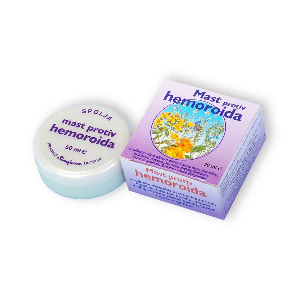 Sinefarm mast protiv hemoroida sa biljnim ekstraktima cinkom vitaminima d e 50 ml