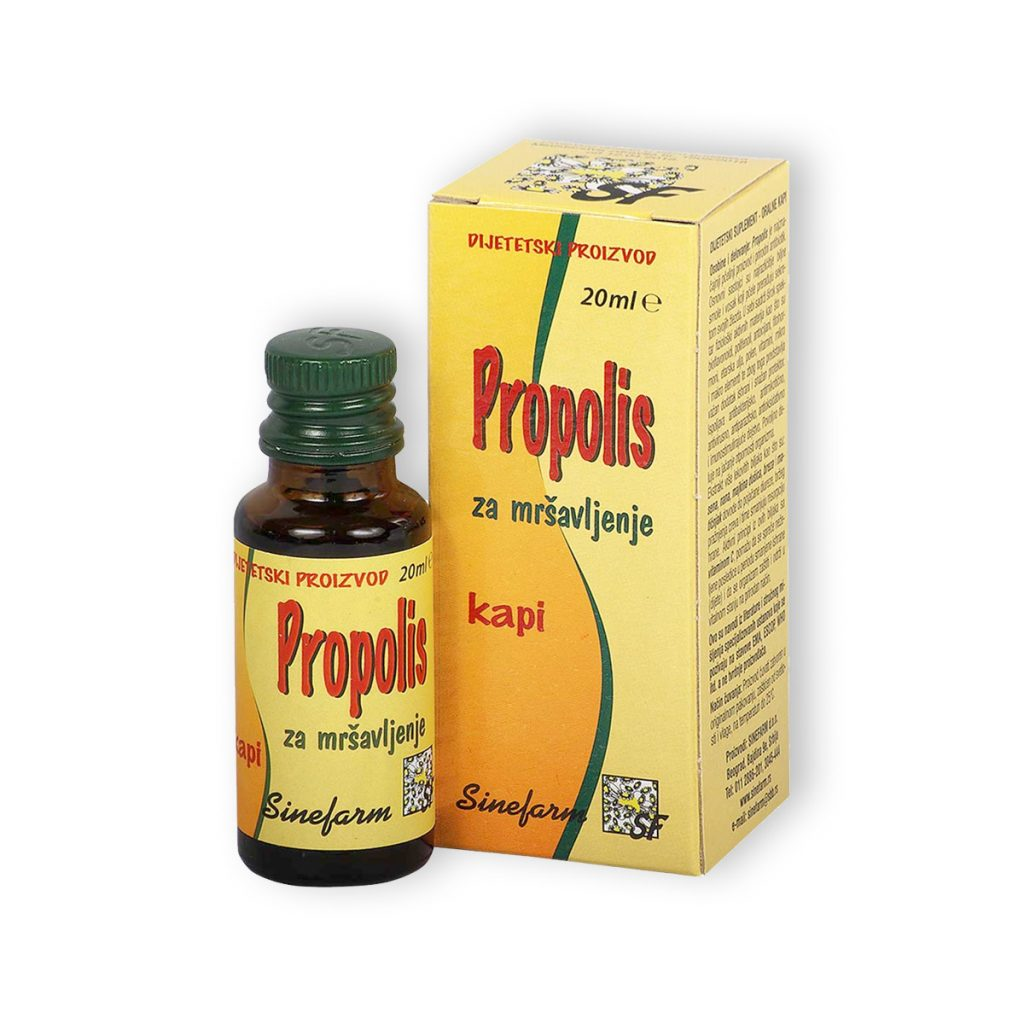 Sinefarm propolis kapi za mrsavljenje 20 ml